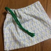 保育園用の歯磨きセットを入れる巾着袋を作りました
