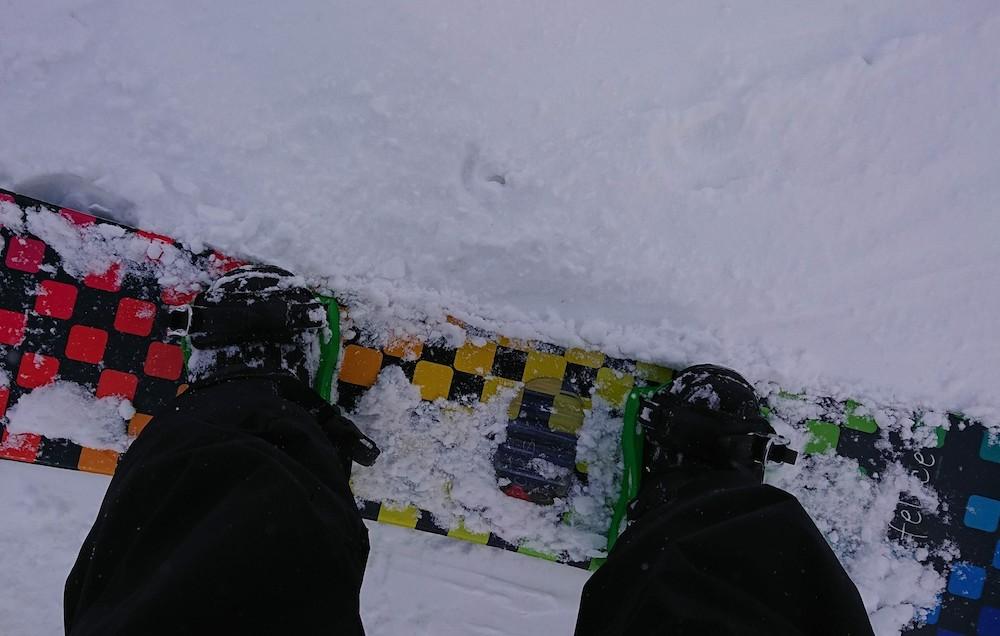 レンタルしたスノーボード