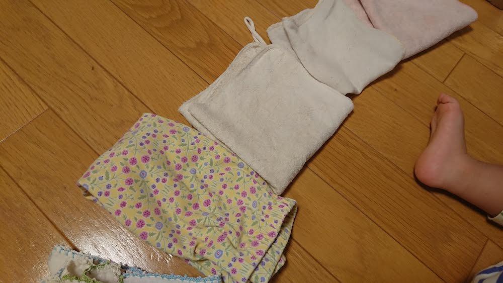 2歳児がたたんでくれた洗濯物
